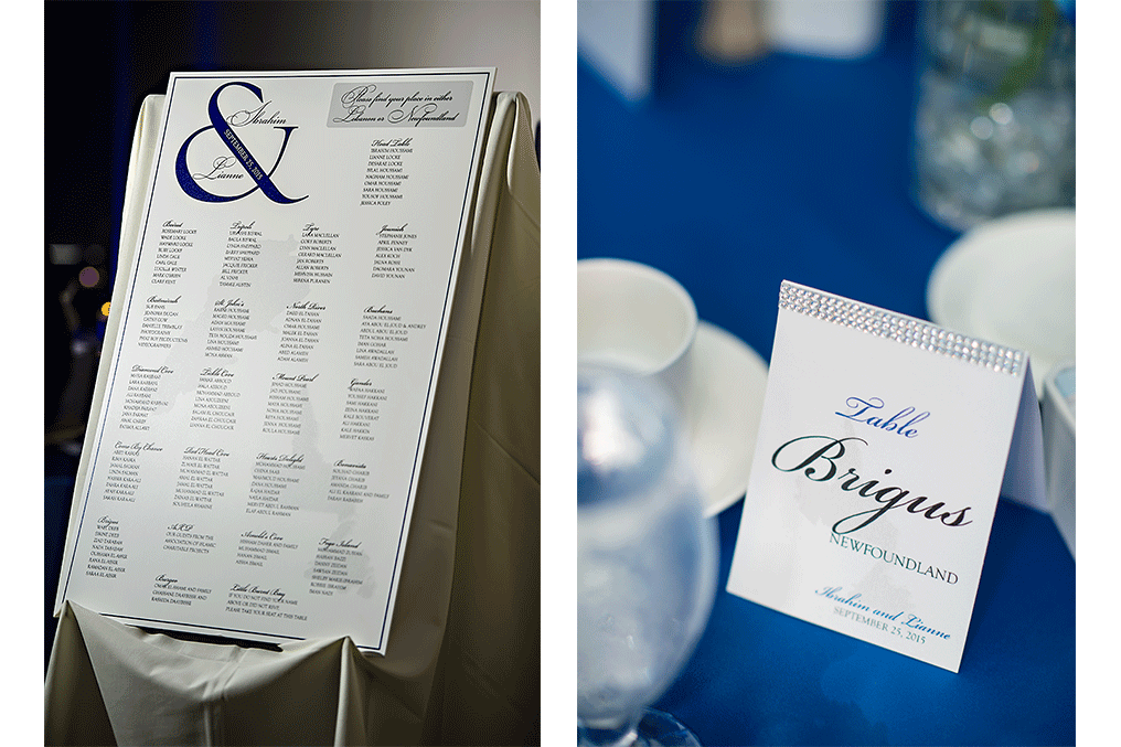 Photo board Seating Chart and tent fold table name