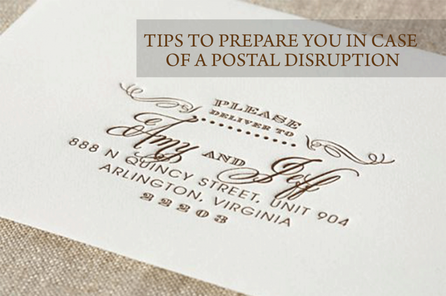 Tips to prepare you in case of a postal disruption