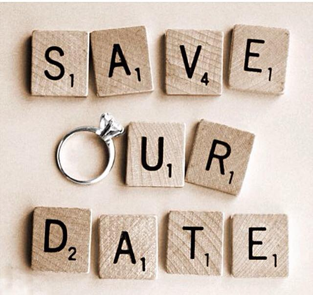 Scrabble Save Our Date